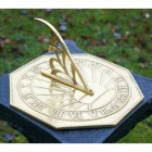 """Copernicus"" Sundial Finished in a Polished Brass"