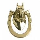 Polished Brass Horse & Shoe Door Knocker