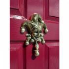 Polished Brass Jester Door Knocker