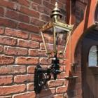 Polished Brass Harrogate Wall Lantern on Bracket in Situ