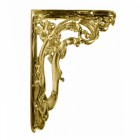 Polished Brass Ornate Shelf Bracket