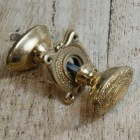 Ornate Victorian Style Door Knobs in Polished Brass