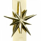 Polished Brass Star On The Wreath Hanger