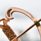 Close-up of the Polished Copper Finish on the Armillary