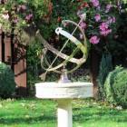 "Customer Photo of the ""Profatius"" Armillary in Situ i the Garden"