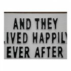 """Quirky """"Ever After"""" Iron Sign in White Close-Up"""