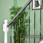 """Rabanne"" Stair Spindle Finished in Black with Stainless Steel Twists"