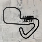 Brands Hatch Racing Circuit  Wall Art on a Rustic Grey Wall