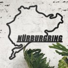 Nürburgring Race Track Wall Art on the Wall Next to Plants
