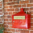 Red and Gold The Suffolk Post or Parcel Box