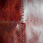 Close-up of the Red Leather on the Chair Seat