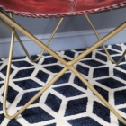 Close-up of the Iron Legs on the Chair