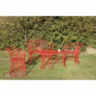 """""""Avery"""" Garden Furniture Set Finished in Red"""