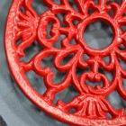Close -up of the Ornate Design on the Round Trivet