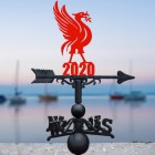 Liver Bird Weathervane in Situ by a Boat Dock