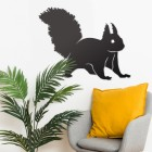 Red Squirrel Wall Art in Situ in the Sitting Room