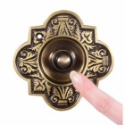 Beautiful antique brass door bell push