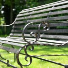 """Scrolled Ornate arms on the Robust """"Chatham"""" Park Bench"""