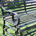 Scrolled Arms on the Traditional Bench