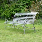 "Rustic Grey Robust ""Chatham"" Park Bench in Situ in Garden"