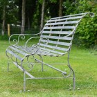 """Side View of the Iron Rustic Grey Robust """"Chatham"""" Park Bench"""