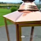 Rochester Entrance Pillar Light in a Copper Finish