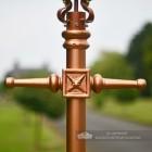 Rose Gold Finish Cast Iron Lamp Post Ladder Bar Block