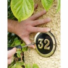Round Brass & Black House Number Signs