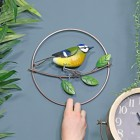 Round Blue Tit Wall Art to Scale