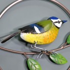 Close-up of the Hand Painted Blue Tit
