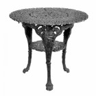 Round Cast Iron Victorian Table in a Black Finish