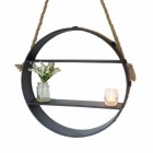 Rope Hanging Circular Shelf
