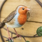 Close-up of the Hand Painted Robin