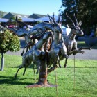 Running Antelope Sculpture