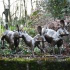 Running Rabbit Sculpturein Situ