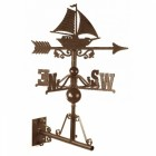 Rustic Sail Boat Weathervane on the Universal Bracket Horizontally