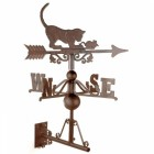 Standard Rustic Cat & Mouse Weathervane