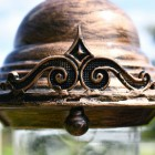 Rustic Copper Finial Detailing on lamp post