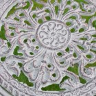 Close-up of the Ornate Design on the Back of the Seat