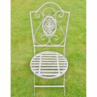 Ornate Seat Finished In a Distressed Grey