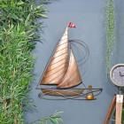 Rustic Sailing Boat Wall Art in Situ