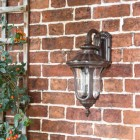 Traditional Wall Lantern with Top Fix Wall Bracket