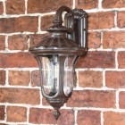 Rustic Traditional Wall Lantern in Situ on a Garden Wall