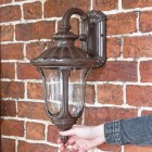 Rustic Traditional Wall Lantern to Scale