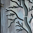 Close-up of the Rustic Finish on the Tree Wall Art