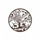Rustic Woodland Scene Round Wall Art