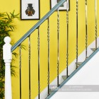 """Alessi"" Double Fine Twist Stainless Steel Stair Spindle"