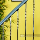 """Alessi"" Double Fine Twist Stainless Steel Stair Spindle Close Up"