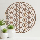"""Geometry """"Flower of Life"""" Steel Wall Art in the Home"""