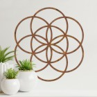 """Rustic """"Seed of Life"""" Steel Wall Art in the Home"""